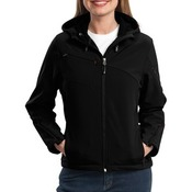 Ladies Textured Hooded Soft Shell Jacket